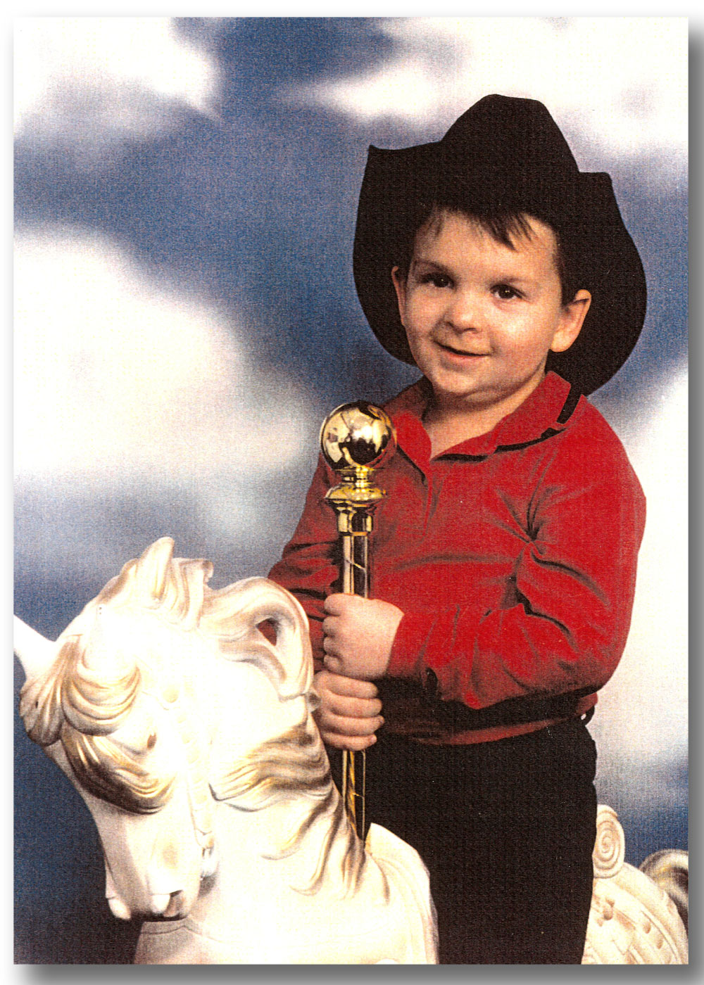 Photo of Brock Walquist riding a horse